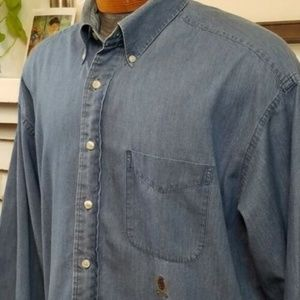 Tommy Hilfiger Chambray Crest Long Sleeve